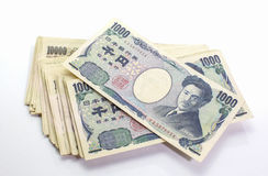 Japonés nota de 1000 bancos de los yenes imagen de archivo libre de regalías