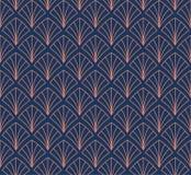 Japonés Shell Ornamental Vector Background Art Deco Floral Seamless Pattern Textura decorativa geométrica ilustración del vector