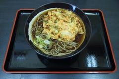 Japonés Soba con el tempura vegetal Imagen de archivo libre de regalías
