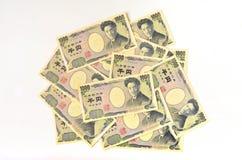 Japonés 1000 yenes Imágenes de archivo libres de regalías