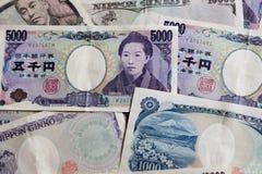Japonês conta de 5000 ienes Imagens de Stock Royalty Free