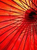 Japonês, guarda-chuva vermelho chinês, asiático Vista de abaixo fotografia de stock royalty free