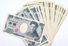 Japonês nota de 1000 bancos dos ienes Fotos de Stock Royalty Free