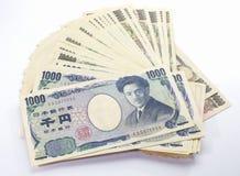 Japonês nota de 1000 bancos dos ienes Imagens de Stock Royalty Free
