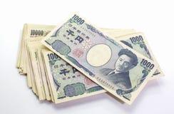 Japonês nota de 1000 bancos dos ienes Imagem de Stock Royalty Free