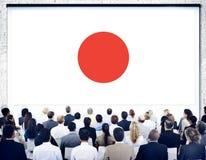 Japonês Pride Unity Concept do patriotismo da bandeira de Japão Fotos de Stock Royalty Free