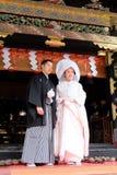 Japonês tradicional Casamento-Nikko, Japão fotos de stock
