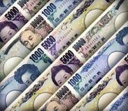 Japonês Yen Background Fotografia de Stock Royalty Free