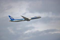 Japonais ANA Commercial Jet Images libres de droits