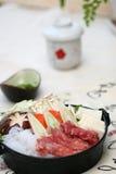 Japonais délicieux de friction préparé photos libres de droits