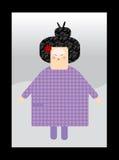 Japonais de feminin de caractère Images libres de droits