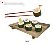Japonais Nori Roll, un plat populaire au Japon Photos stock