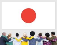 Japonais Pride Unity Concept de patriotisme de drapeau du Japon Photo stock