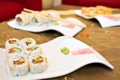 Japonais proche de nourriture vers le haut Images libres de droits