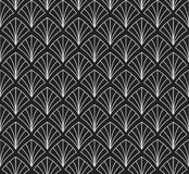 Japonais Shell Ornamental Vector Background Art Deco Floral Seamless Pattern Texture décorative géométrique Photos libres de droits