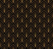 Japonais Shell Ornamental Vector Background Art Deco Floral Seamless Pattern Texture décorative géométrique Photographie stock libre de droits
