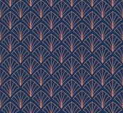 Japonais Shell Ornamental Vector Background Art Deco Floral Seamless Pattern Texture décorative géométrique Photo libre de droits