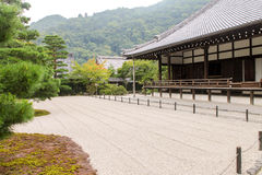 Japonais Zen Garden, temple de Tenryuji Photo stock