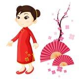 Japonaise de fille illustration stock