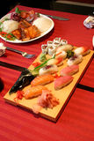 Japonese restaurant. Served food in a japonese restaurant Stock Image
