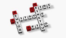 Japonese Wörter für Konzept 5S Lizenzfreie Stockbilder