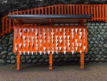 Japonia świątynia, Małe drewniane plakiety obrazy royalty free
