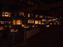 Japonia świątynni tradycyjni lampiony zdjęcia royalty free