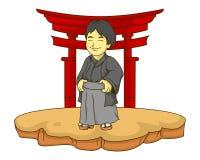 Japonia żartuje ilustrację z gradientami Obraz Stock