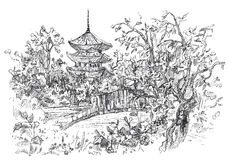 Japonia royalty ilustracja