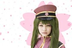 Japonia anime cosplay, mały cosplay w obrazku Zdjęcie Royalty Free