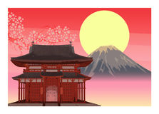 Japonia art deco szablon Zdjęcia Royalty Free