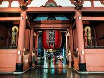 Japonia Asakusa stara świątynia obrazy stock