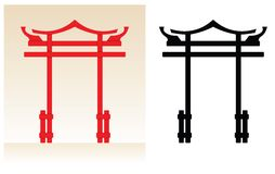 Japonia brama Ilustracja Wektor