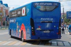 Japonia drużyny futbolowej Krajowy autobus Obraz Stock