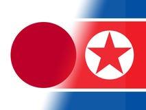 Japonia I Północnego Korea rozmów 3d ilustracja royalty ilustracja