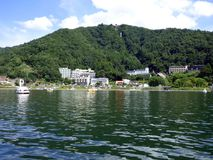 Japonia Jeziorny Kawaguchiko obrazy stock