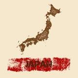 Japonia martwił mapę Obraz Royalty Free