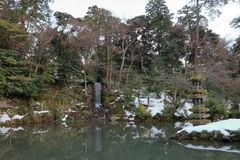 Japonia patio obraz royalty free