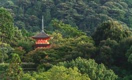 Japonia podróży miejsce przeznaczenia punkt zwrotny, Kiyomizu, Dery pagoda w Kyoto zdjęcie stock