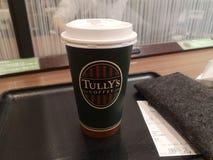 Japonia pokoju hotelowego sklepy z kawą i usługi obrazy stock