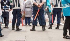 Japonia policjanci w Tokio Fotografia Stock