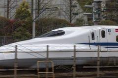 Japonia, Tokio, 04/12/2017 Szybkościowy pociąg shinkansen zdjęcie stock
