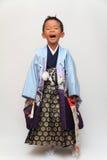 Japońska chłopiec przy Seven-Five-Three festiwalem Obraz Royalty Free