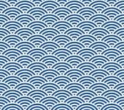 Japoński falowy wzór Obraz Royalty Free