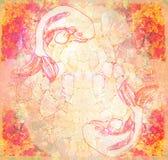 Japoński koi ryba grunge tło Zdjęcie Stock