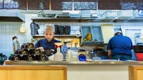 Japoński suszi szef kuchni Obraz Royalty Free