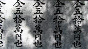 Japoński tekst Zdjęcia Stock