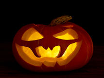 Jaque-o-lanterna assustador das abóboras de Halloween Foto de Stock