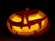 Jaque-o-lanterna assustador das abóboras de Halloween Fotografia de Stock