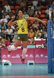 Jaqueline Pereira De Carvalho of Brazil. Bangkok, Thailand - August 15 Jaqueline Pereira De Carvalho of Brazil in action during the Volleyball World Grand Prix Stock Images